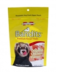MARSHALL PET PRODUCTS BANDITS CHICKEN TREATS 3 OZ.  UPC 766501003840