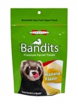 MARSHALL PET PRODUCTS BANDITS BANANA TREATS 3 OZ.  UPC 766501003512
