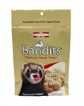 MARSHALL PET PRODUCTS BANDITS PEANUT BUTTER TREATS 3 OZ.  UPC 766501003864