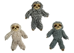 "MULTIPET SLOTH (ASST. COLORS) SIZE: 5"" 3/PK UPC 78436920278"