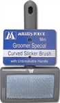 MILLERS FORGE MINI UNBREAKABLE SLICKER BRUSH - CURVED UPC 076681004149