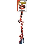 MAMMOTH PET PRODUCTS SMALL 3 KNOT COLOR ROPE TUG  UPC 746772200100