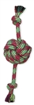 "MAMMOTH PET PRODUCTS SMALL 13"" FRESH MONKEY FIST BALL W/ ROPE ENDS UPC 746772250907"