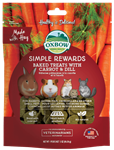 OXBOW ANIMAL HEALTH BAKED TREATS W/CARROT & DILL 2 OZ. PKG  UPC 744845960173