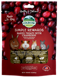 OXBOW ANIMAL HEALTH BAKED TREATS W/CRANBERRY 2 OZ. PKG  UPC 744845960227