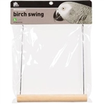 "PREVUE HENDRYX PET PRODUCTS BIRD CAGE SWING 9"" BIRCH PARROT  UPC 048081132067"