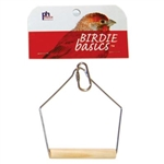 "PREVUE HENDRYX PET PRODUCTS BIRD CAGE SWING 3.5"" BIRCH KEET  UPC 048081003879"