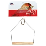 "PREVUE HENDRYX PET PRODUCTS BIRD CAGE SWING 5"" BIRCH TIEL  UPC 048081003886"