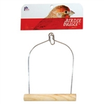 "PREVUE HENDRYX PET PRODUCTS BIRD CAGE SWING 6"" BIRCH SMALL PARROT  UPC 048081003893"