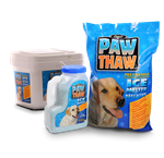 ** TEMPORARILY OUT OF STOCK ** PESTELL PAW THAW ICE MELTER 25 LB POLY BAG W HANDLE UPC 068328507076