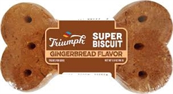 TRIUMPH PET INDUSTRIES SUPER SINGLE GINGERBREAD BISCUITS 2 15/CT DISPLAYS UPC 07365700999