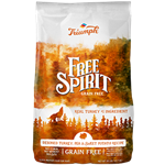 TRIUMPH FREE SPIRIT GRAIN FREE DEBONED TURKEY, PEA & SWEET POTATO GRAIN FREE 28 LB  UPC 073657390206