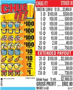 $100 TOP - Form # 1278UK Chug It! $1.00 Ticket