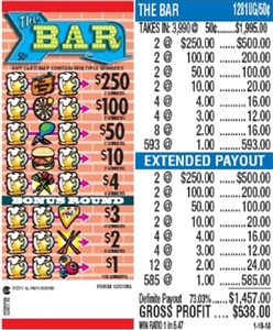 $250 TOP - Form # 1281UG The Bar 50 Cent Ticket