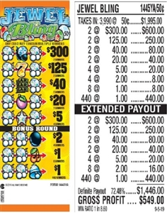 $300 TOP - Form # 1445YA Jewel Bling 50 Cent Ticket