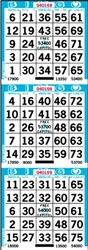 3 ON Bingo Paper - Pack of 1,000 Sheets