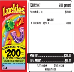 55887 Luckies $1.00 Bingo Event Ticket