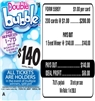 $140 TOP - Form # 5595Y Double Bubble $1.00 Bingo Event Ticket