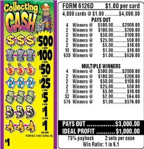 $500 TOP - Form # 6126D Collecting Cash $1.00 Ticket