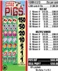 $150 TOP - Form # 6137D Poker Pigs 25 Cent Ticket