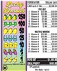 $250 TOP - Form # 6410R Lucky Lemons 50 Cent Ticket