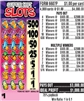 $500 TOP - Form # 6607P Super Hot Slots $1.00 Ticket