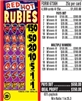 $150 TOP - Form # 6736H Red Hot Rubies 25 Cent Ticket