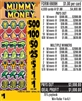 $500 TOP - Form # 6989H Mummy Money $1.00 Ticket