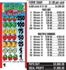 $250 TOP - Form # 7068F Cash For Cherries $1.00 Ticket