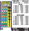 $250 TOP - Form # 7260D Juggling Gems 50 Cent Ticket
