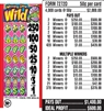 $250 TOP - Form # 7272D Winning Gone Wild 50 Cent Ticket