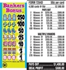 $250 TOP - Form # 7284D Bankers Bonus 50 Cent Ticket