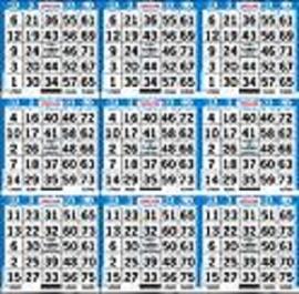 9 ON Bingo Paper