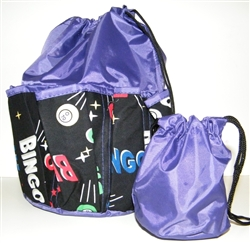 Deluxe 10-Pocket Bingo Dauber Bag - Space Balls