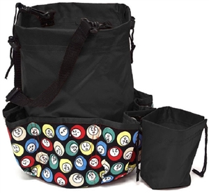 Deluxe 10-Pocket Bingo Dauber Bag - Bingo Ball
