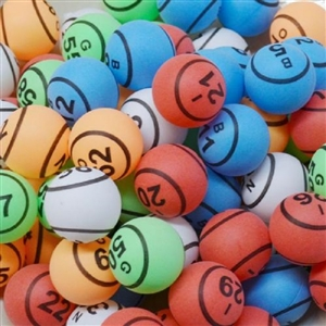 Bingo Balls - Bargain Multi-Colored Double-Numbered