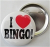 I Love Bingo Pin-On Button