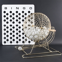 Bingo Cage Set - Large Brass