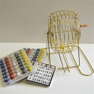 Bingo Cage Set - Small Brass