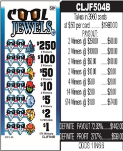 $250 TOP - Form # CLJF504B Cool Jewels 50 Cent Ticket