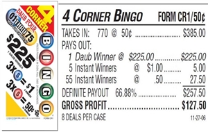 CR1 4-Corner Bingo $0.50 Bingo Event Ticket