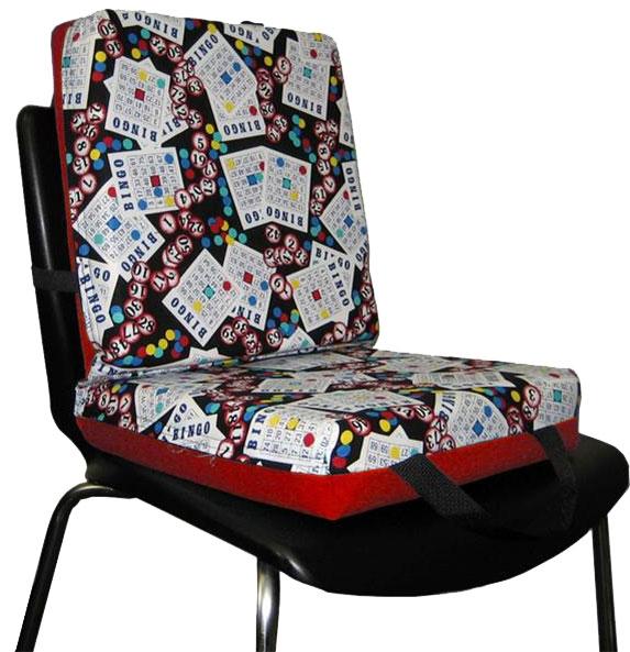 Bingo Card Purple Double Cushion