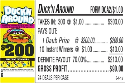 DCA2 Duck'n Around $1.00 Bingo Event Ticket
