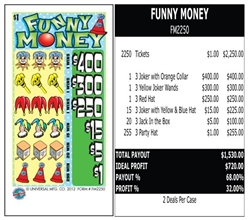 FM2250 Funny Money $1.00 Ticket