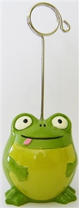 Ceramic Frog Bingo Admission Ticket Holder