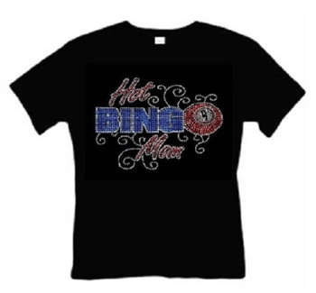 Hot Bingo Mom Black T-Shirt