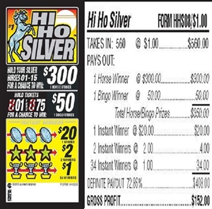$300 TOP - Form # HHS08 Hi Ho Silver $1.00 Bingo Event Ticket