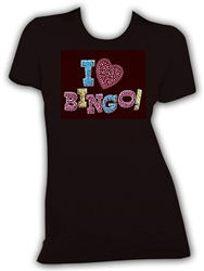 I Love Bingo Black T-Shirt