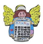 Angel Winner Bingo Pin