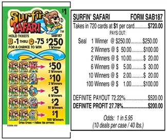 SAB187 Surfin Safari $1.00 Bingo Event Ticket